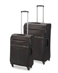 Ultra-Light Black Suitcase Set