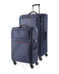 Ultra Light Trolley Suitcase Set - Navy