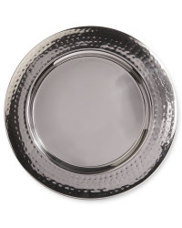 Underplate Hammered Charger 2 Pack - Silver