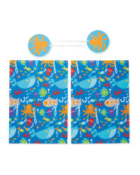 Underwater Gift Wrap & Tags 2-Pack