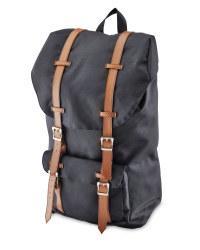 Unisex Black Backpack