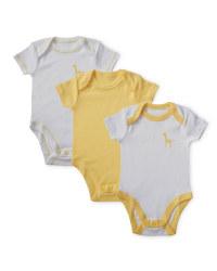 Unisex Giraffe Bodysuits 3-Pack