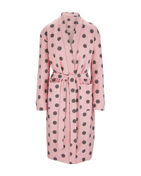 Ladies Spots Waffle Dressing Gown