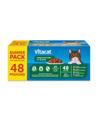 VITACAT Cat Pouch Bumper Pack Gravy