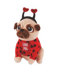 Valentine's Love Pug Soft Toy
