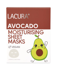 Avocado Natural Vegan Sheet Masks