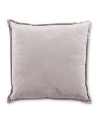 Kirkton House Velvet Cushion - Light Grey