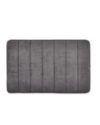 Vertical Memory Foam Bath Mat - Slate