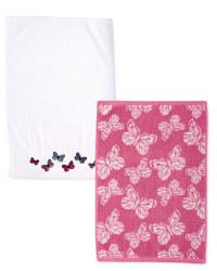 Vintage Butterflies Towels 2-Pack