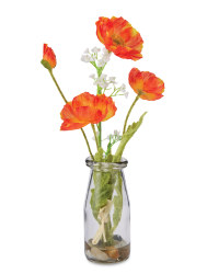 Vintage Bottle - Orange Poppy