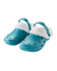 Crane Warm Lined Clogs - Teal