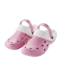 Crane Warm Lined Clogs - Pink