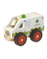 Little Town Wooden Ambulance