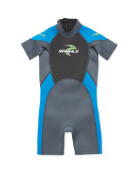 Crane Children's Shorty Wetsuit - Blue
