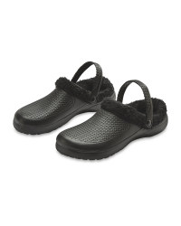 Avenue Warm Lined Clogs - Black