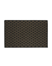 Washable Black Diamond Kitchen Mat