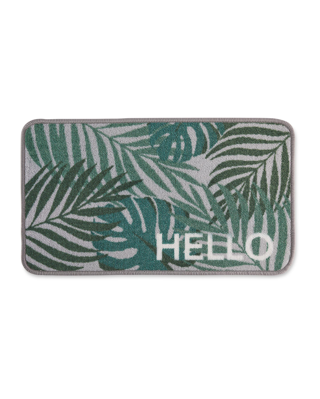 Tropical Hello Washable Door Mat