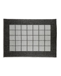 Washable Grey Check Utility Mat