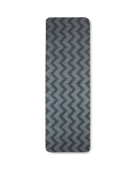 Washable Grey Chevron Runner