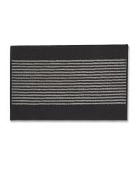 Washable Striped Mat - Black/Grey