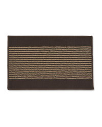 Washable Striped Mat - Brown/Beige