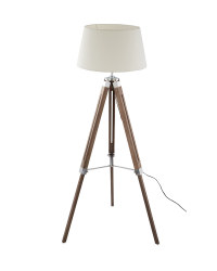 Retro Washed Wood Tripod Floor Lamp