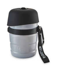 Water Bottle with Bowl Lid - Grey