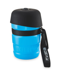 Water Bottle with Bowl Lid - Blue