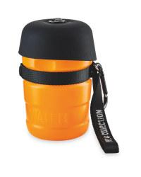 Water Bottle with Bowl Lid - Orange