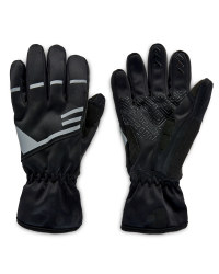 Crane Weatherproof Cycling Gloves - Black