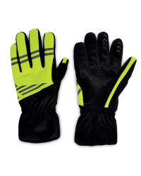 Crane Weatherproof Cycling Gloves - Yellow