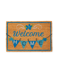 Welcome Bunting Design Coir Mat