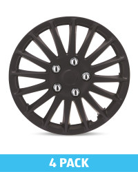 "Matt Black 14"" Wheel Trims 4 Pack"