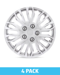 "Silver/Grey 15"" Wheel Trims 4 Pack"