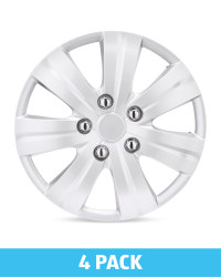 """Silver 15"""" Wheel Trims 4 Pack"""