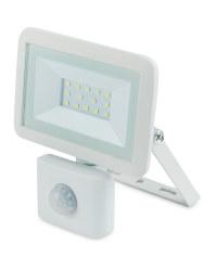 White 10W Floodlight with Sensor