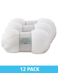 White Double Knitting Yarn 12 Pack