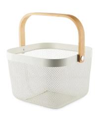 White  Kitchen Storage Basket