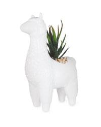 White Llama Pot Plant