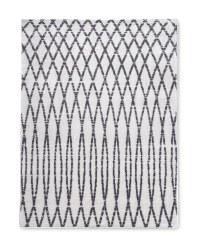 White Patterned Contemporary Rug