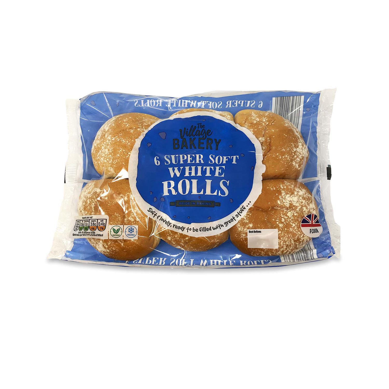6 Super Soft White Rolls