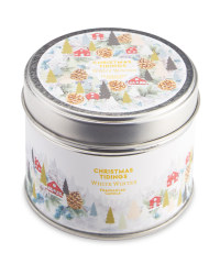 White Winter Fragranced Tin Candle
