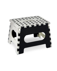 White and Black Folding Step Stool