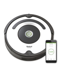 White iRobot Roomba Vacuum