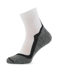 Crane White & Black Sport Socks