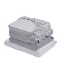 White/Grey Cot Bed Starter Set