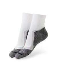 White/Grey Cycling Ankle Socks