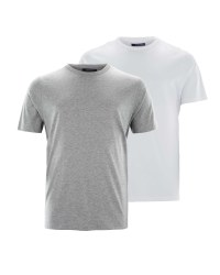 Avenue White/Grey T-shirt 2-Pack