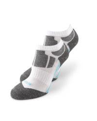 White/Grey Trainer Socks 2 Pack