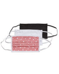 White/Pink Adult Face Mask 3 Pack